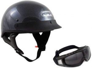 best motorcycle half helmet no mushroom